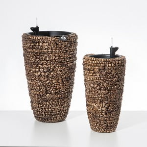 Set 2 kvetináčov so zavlažovacím systémom Terra Brown