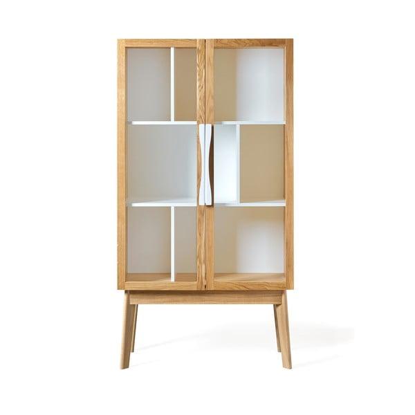 Biela knižnica/vitrína Woodman Avon