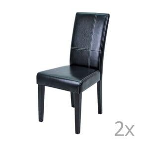 Sada 2 čiernych jedálenských stoličiek 13Casa Pollie