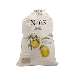 Látkový vak na prádlo Linen Bag Lemons, výška 75 cm