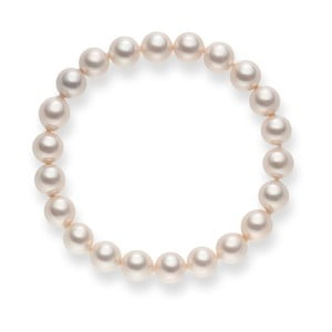 Ružový perlový náramok Pearls Of London Chloe, 19 cm