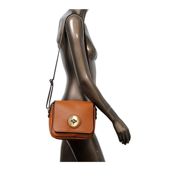 Hnedá kabelka z pravej kože Andrea Cardone Alessio