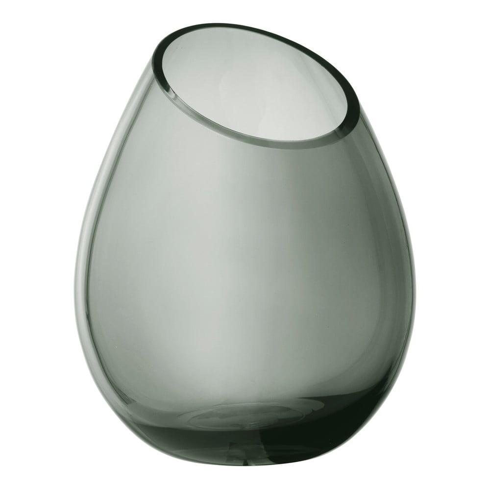 Zelená sklenená váza Blomus Raindrop, výška 24 cm
