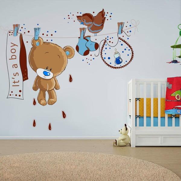 Dekoratívna samolepka na stenu Medvedík