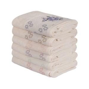 Sada 6 bavlnených uterákov Daireli Marisol, 50×90 cm