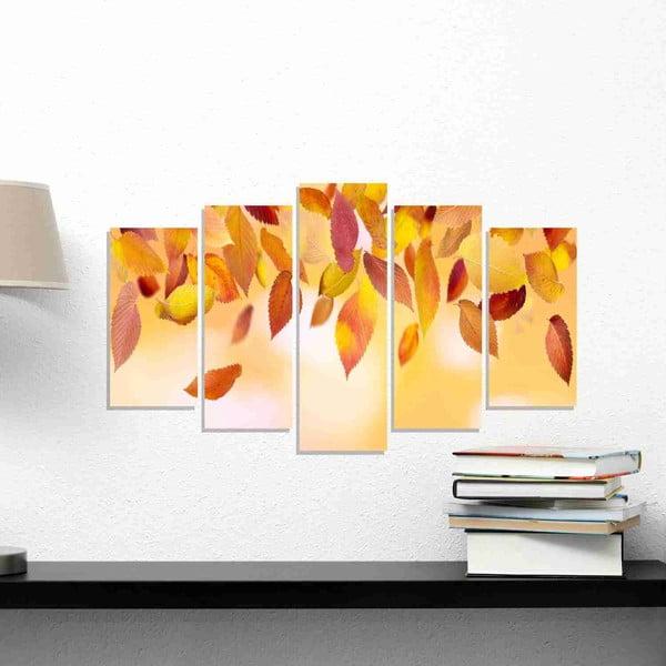 5-dielny obraz Leaves