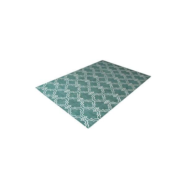 Zelený vlnený koberec Bakero Riviera, 122x183 cm