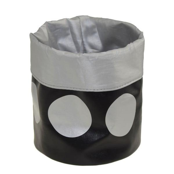 Uložný košík Dots Black, 22 cm