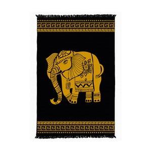 Čierno-žltý obojstranný koberec Elephant, 160×250 cm
