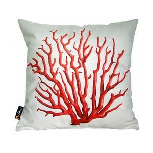 Vankúš Merowings Red Coral on Cream, 45x45cm
