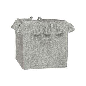 Sivý bavlnený úložný košík Nattiot, Ø25 cm