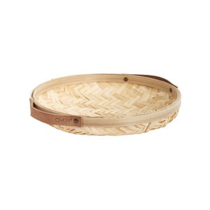 Bambusový úložný box OYOY Sporta, ⌀ 30 cm
