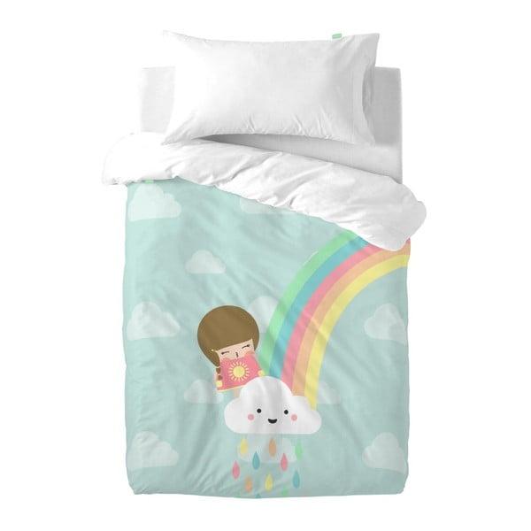 Destké obliečky z čistej bavlny Happynois Rainbow, 100×120 cm