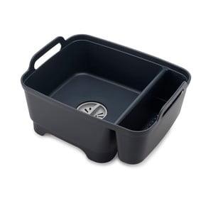 Čierna umývacia nádoba s priehradkou na umývacie prostriedky Josoph Josoph Wash&Drain