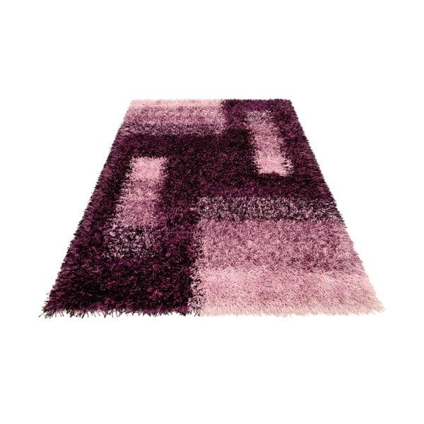 Ručne tkaný koberec Lavella, 70x140 cm, fialový