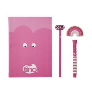 Sada ružových školských potrieb TINC Mallo Note