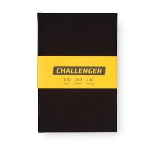 Čierny motivačný zápisník pre mužov Bloque. Challenger