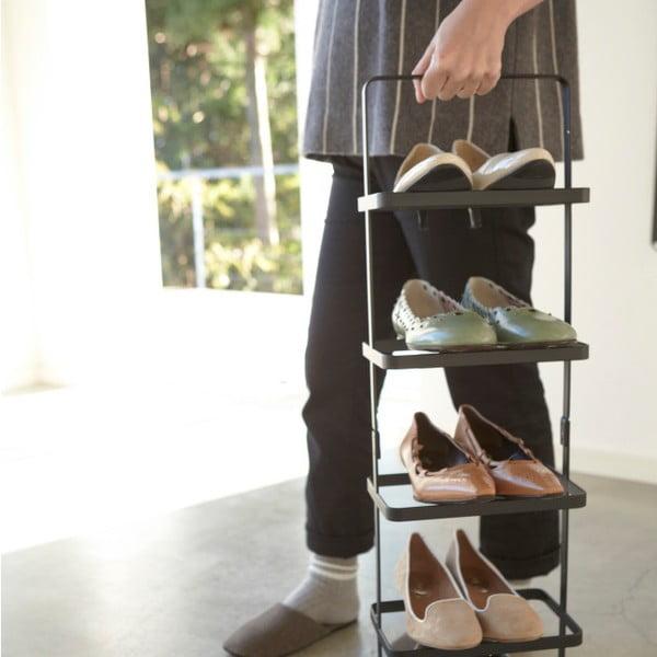 Čierny vysoký stojan na topánky Yamazaki Tower Shoe Rack