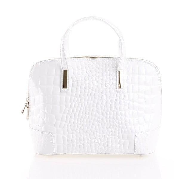 Kožená kabelka Jatany, biela