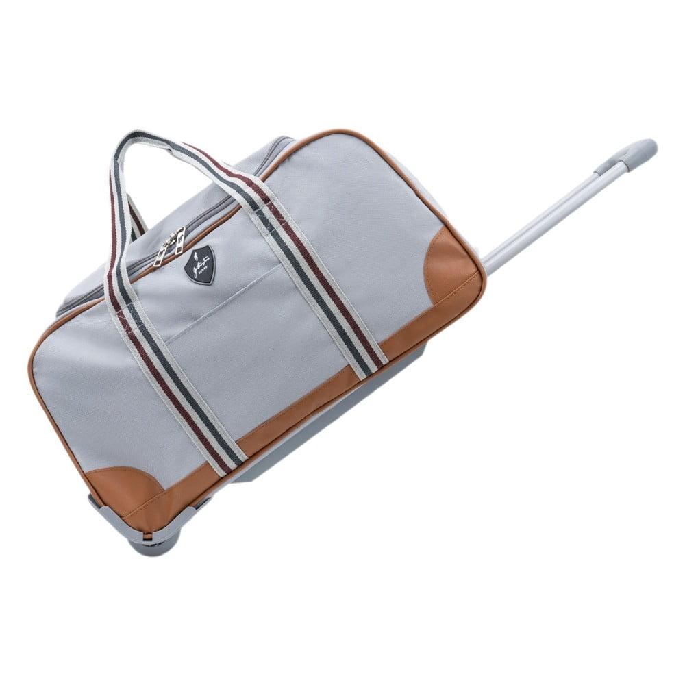 Sivá cestovná taška na kolieskach GENTLEMAN FARMER Sydney, 93 l
