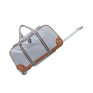 Svetlosivá cestovná taška na kolieskách GENTLEMAN FARMER Sydney, 93 l