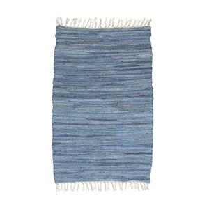 Modrý vzorovaný koberec A Simple Mess Mille, 90×60cm