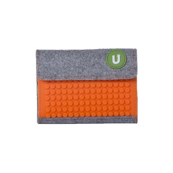 Pixelová peňaženka grey/aqua orange