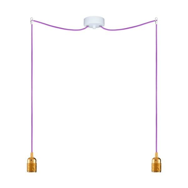 Dva závesné káble Uno, zlatá/fialová