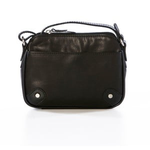 Čierna kožená kabelka Gianni Conti Aglea