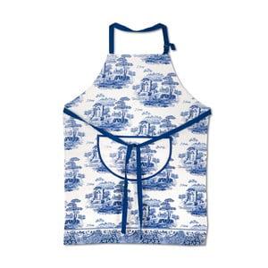 Bielo-modrá bavlnená kuchynská zástera Spode Blue Italian
