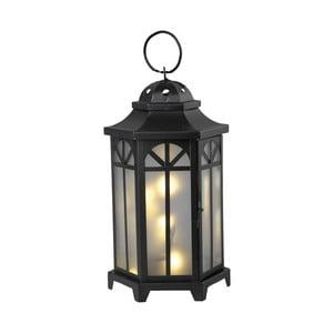 Čierny LED lampáš Best Season Kantis