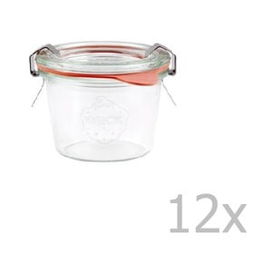 Sada 12 zaváracích pohárov Weck Sturz, 80 ml