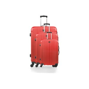 Sada 3 kufrov Brand Developpement Loisa, červená