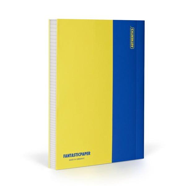 Zápisník FANTASTICPAPER A5 Lemon/Blue, štvorčekový