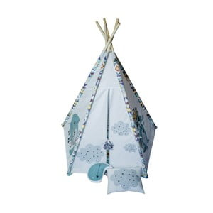 Svtlomodré päťuholníkové teepee VIGVAM Design Cute Tribe