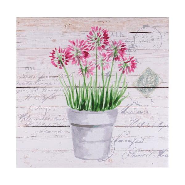 Plátno Pink Flower, 40x40 cm