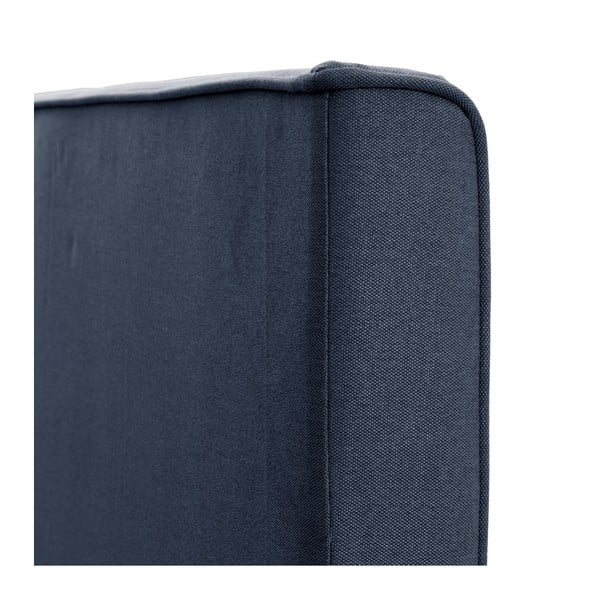 Tmavomodrá posteľ VIVONITA Kent 140x200cm, čierne nohy