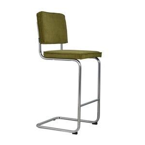Zelená barová stolička Zuiver Ridge Rib