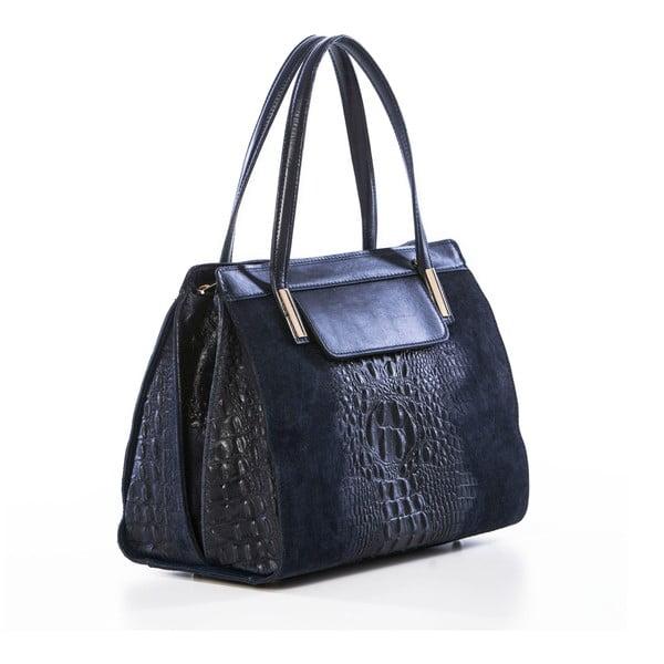 Kožená kabelka Croco Blue