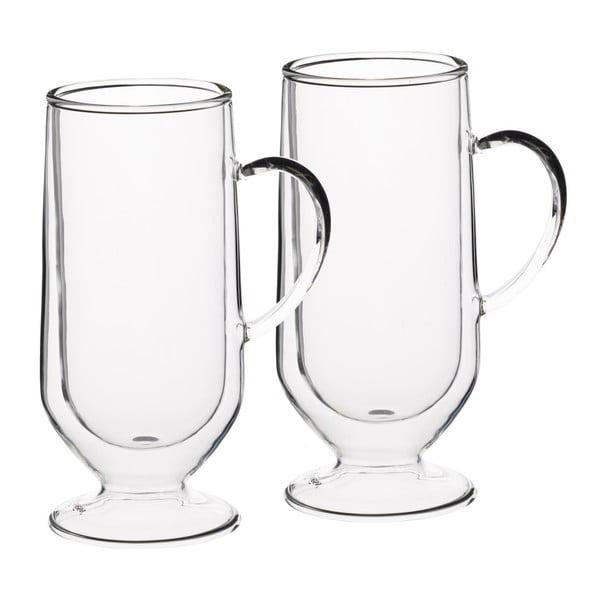 Dva sklenené hrnčeky na írsku kávu Kitchen Craft  Le'Xpress, 275 ml
