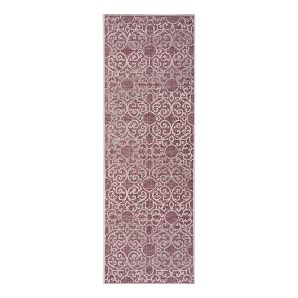 Fialovo-béžový vonkajší koberec Bougari Nebo, 70 x 200 cm