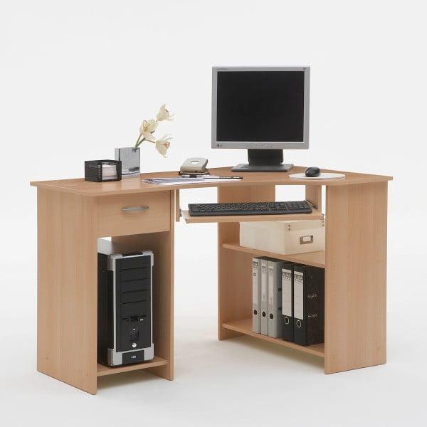 Rohový pracovný stôl Felix, buk