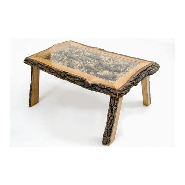 Ručne vyrobený konferenčný stolík z dubového dreva Miyola