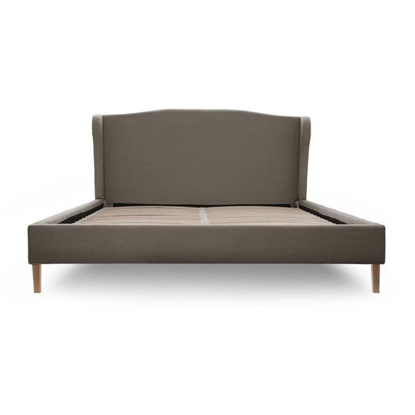 Sivá posteľ VIVONITA Windsor 180x200cm, svetlé nohy