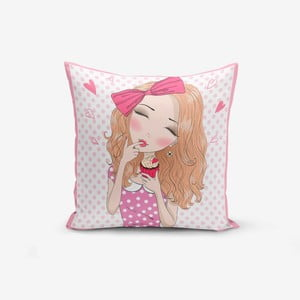 Obliečka na vankúš Minimalist Cushion Covers Girl With Cupcake, 45 × 45 cm