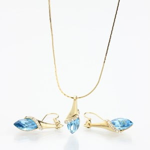 Set Laura Bruni so Swarovski Elements Aqua