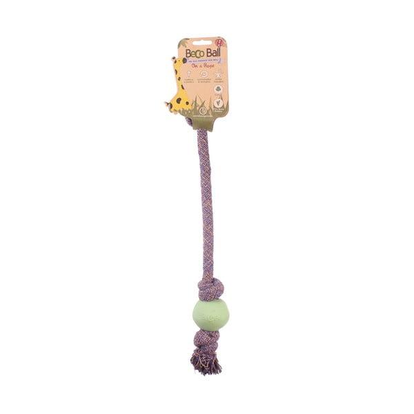 Povraz s loptičkou na hranie Beco Rope 40 cm, zelený