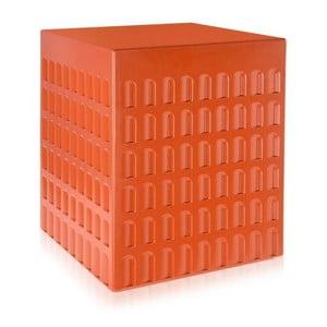 Oranžový odkladací stolík Kartell Eur