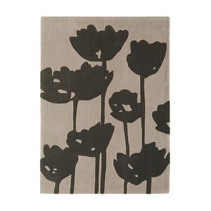 Tmavosivý koberec Asiatic Carpets Harlequin Florist, 170 x 120 cm