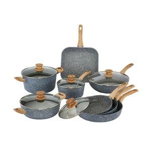 13-dielny set riadu s pokrievkami a drevenými úchytmi Bisetti Pierre Gourmet